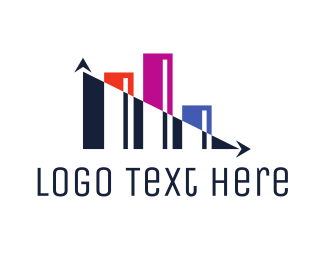 Financial Advisor - Abstract Modern Statistics logo design