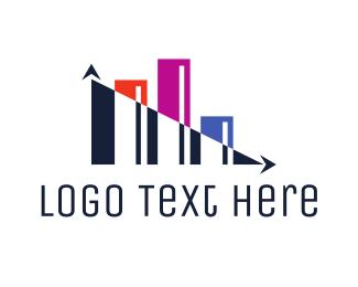 Stock Market - Abstract Modern Statistics logo design