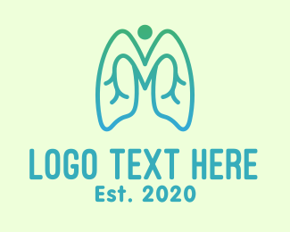 Disease - Gradient Respiratory Lungs logo design