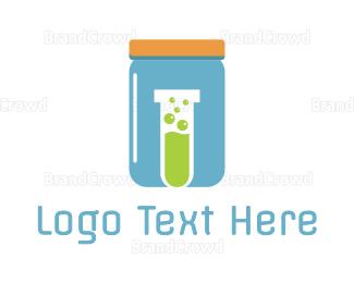 Bio Tech - Blue Jar Lab logo design
