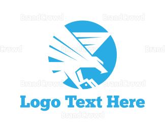 Cross Country - Blue Eagle logo design