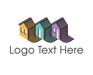 Estate Agency - House Trio logo design