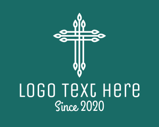 Bible Study - Elegant Christian Cross  logo design