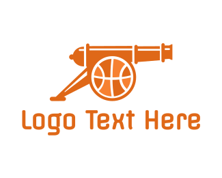 Cannon - Basketball Cannon  logo design