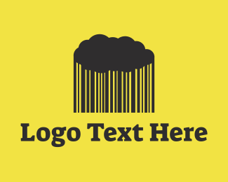 Website - Rain Barcode Cloud logo design