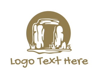 England - Ancient Stone Circle  logo design