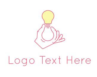 Creativity - Light Bulb logo design