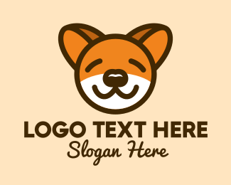 Sleep - Cute Sleeping Dog logo design