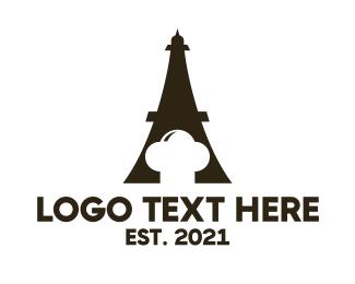 Paris - Eiffel Chef logo design