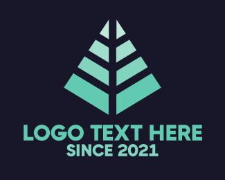 Palm Leaf - Modern Pine Tree logo design