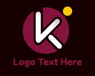 Media Agency - Circle Popsicle K logo design