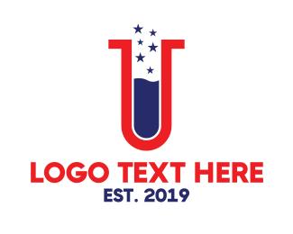 Antibiotics - USA Lab logo design