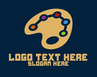 Online - Online Art Palette  logo design