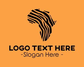 African - African Tiger Pattern logo design