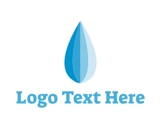 Clear - Blue Water Droplet logo design