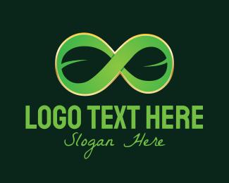 Infinity Loop - 3D Infinity Leaf logo design