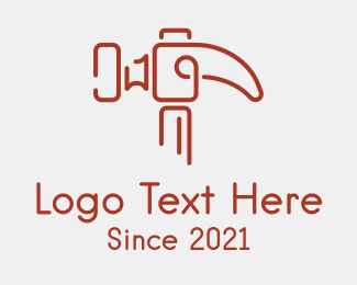 Masonry - Minimalist Claw Hammer logo design