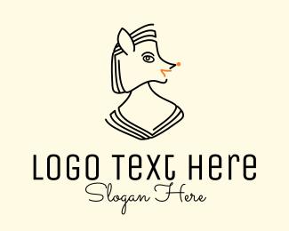 Hair Color - Fox Lady Monoline logo design