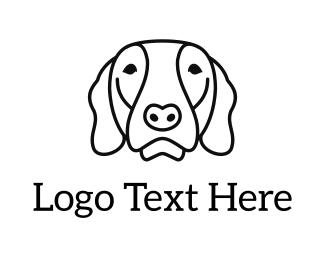 Beagle - Dog Face logo design