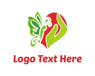 Date - Butterfly Love  logo design