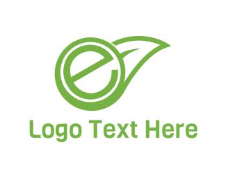 Eco Energy - Eco Letter E logo design