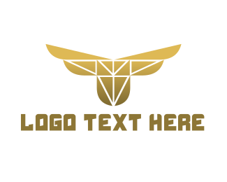Yellow Bird - Polygon Bird Gaming logo design
