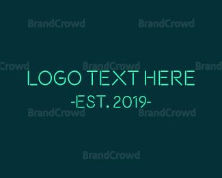 Led - Blue Neon Sticks logo design