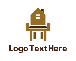 Stool - Home Wood Furniture logo design