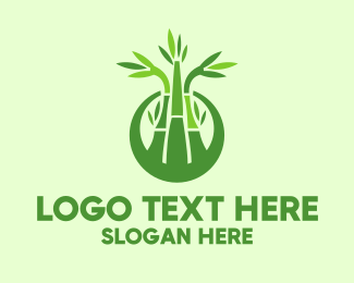 Bamboo - Bamboo Forest Badge logo design