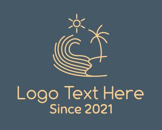 Journey - Minimalist Beach Wave logo design