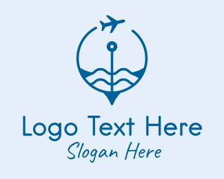 Traveling - Air Travel Compass  logo design