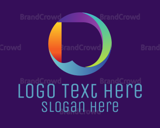Website - Round Letter D logo design