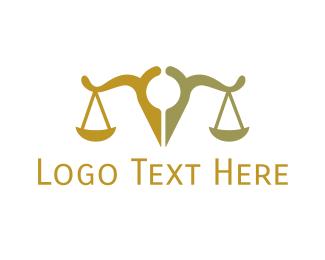 Justice - Pin Scale Justice logo design