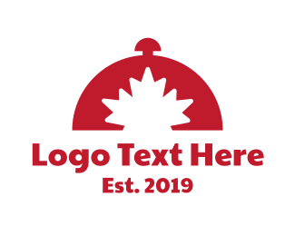 Canadian - Red Canadian Buffet logo design