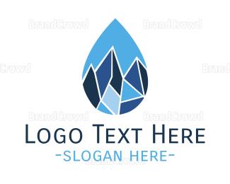 Chill - Frozen Drop logo design
