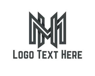 Letter H - M & H logo design
