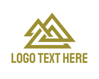 Contractor - Gold Triangle Symbol logo design
