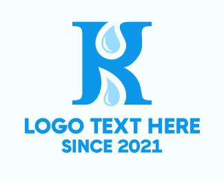 Letter - Letter K Drops logo design
