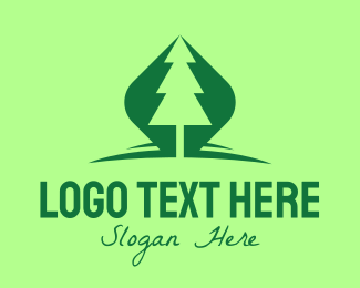 Outdoors - Outdoor Green Pine Tree logo design