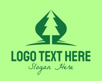 """Outdoor Green Pine Tree"" by royallogo"