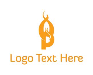 Alabama - Flame Letter P logo design