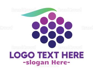 Blackberry - Abstract Grape Fruit logo design
