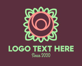Ecofriendly - Yoga Rose Bud logo design