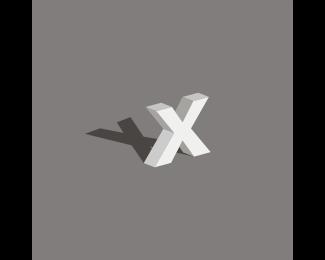 Shadow - Letter X logo design