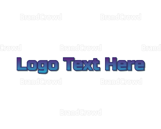 Bold - Gradient Bold Blue logo design