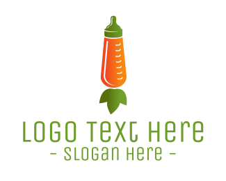 Veggie - Carrot Feeding Bottle logo design