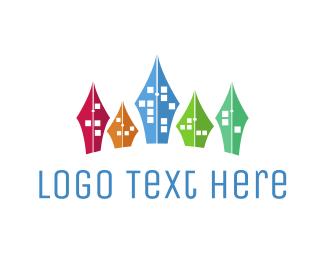 Learning Center - Educational City logo design