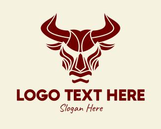 Matador - Angry Red Bull logo design