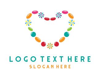Lollies - Candy Love Heart logo design