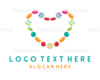 Joy - Candy Love Heart logo design